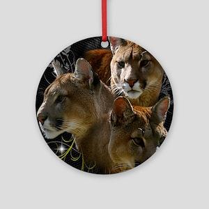 Cougar Round Ornament