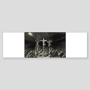 The Crucifixion - 1849 Sticker (Bumper)
