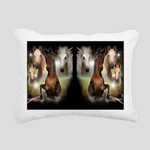 Horses Rectangular Canvas Pillow