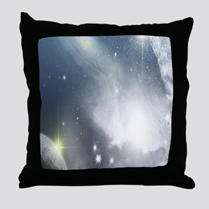 Galactic View Throw Pillow