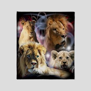 Lions Throw Blanket