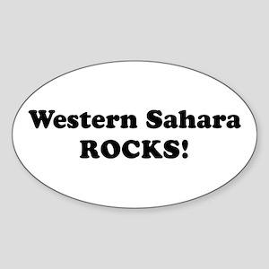 Western Sahara Rocks! Oval Sticker