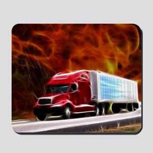 hells highway Large Mousepad