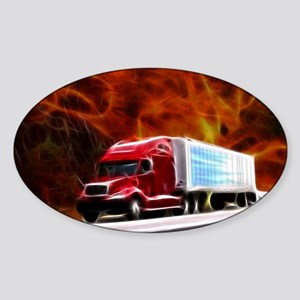 hells highway Large Sticker (Oval)