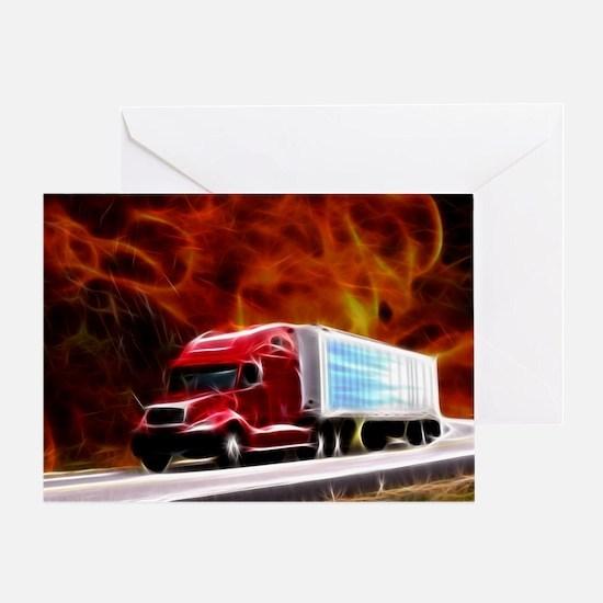 hells highway Large Greeting Card