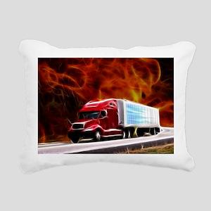 hells highway Large Rectangular Canvas Pillow