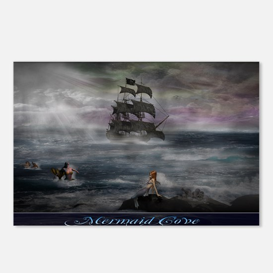 Mermaid Cove Large Postcards (Package of 8)