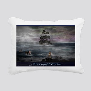 Mermaid Cove Large Rectangular Canvas Pillow