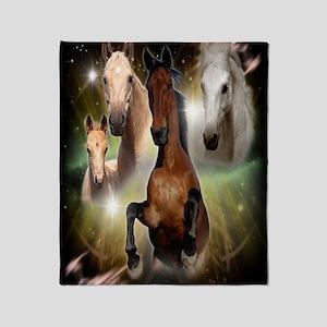 Horses Large Throw Blanket