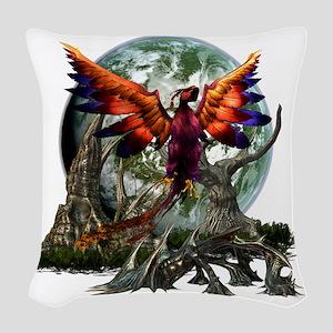 monster 2 Woven Throw Pillow
