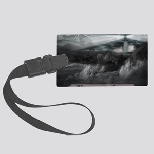 Doomed Seas Poster Large Luggage Tag