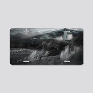 Doomed Seas Poster Aluminum License Plate