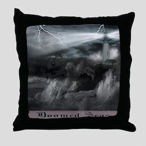 doomed seas framed Throw Pillow