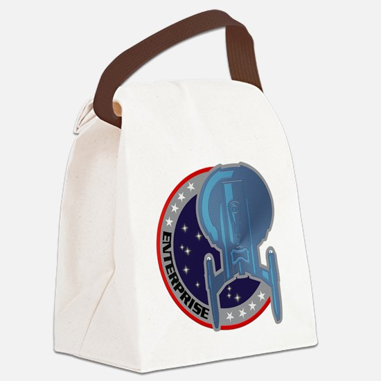 Enterprise Emblem Canvas Lunch Bag