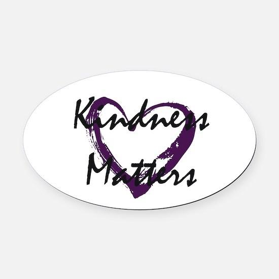 Kindness Matters Oval Car Magnet