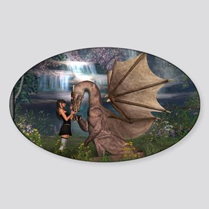 Dragon Love Sticker (Oval)