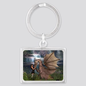Dragon Love Landscape Keychain