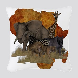 Safari Woven Throw Pillow