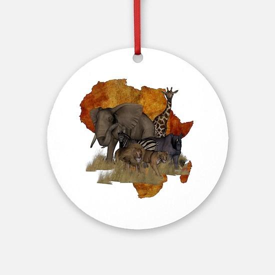 Safari Round Ornament
