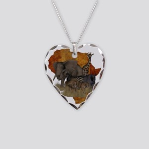 Safari Necklace Heart Charm