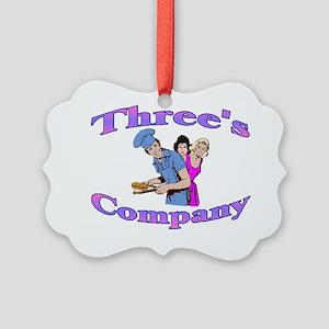 Threes Company Picture Ornament