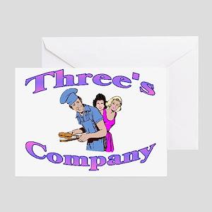 Threes Company Greeting Card