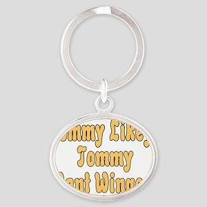 Tommy Likey Oval Keychain