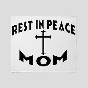 RIP MOM Throw Blanket