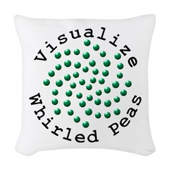 Visualize Whirled Peas 2 Woven Throw Pillow