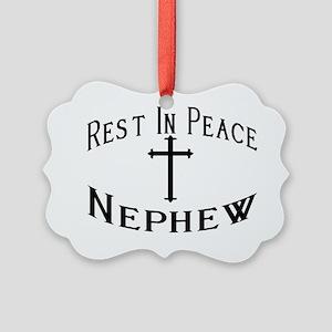 RIP Nephew Picture Ornament