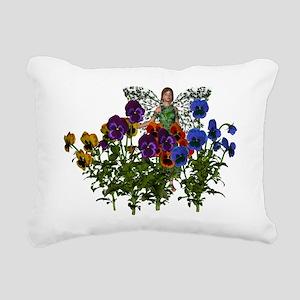 Flower Fairy Rectangular Canvas Pillow