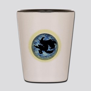Witch In Moon Shot Glass