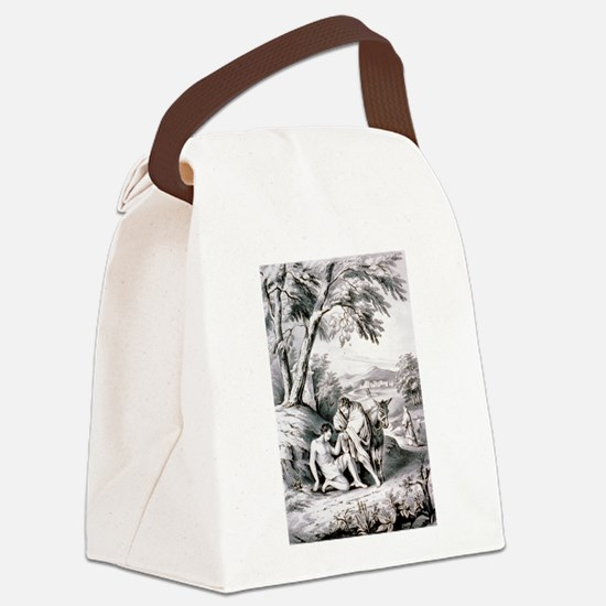 The good samaritan - 1849 Canvas Lunch Bag