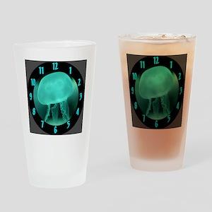 5-Jellyfish Clock Drinking Glass