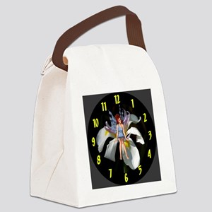 Fairy Flower Clock Canvas Lunch Bag