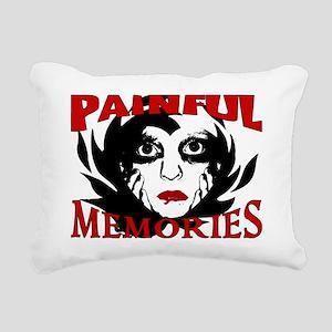 2-Painful Memories Rectangular Canvas Pillow