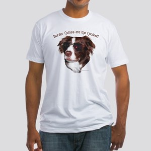 """""""Border Collie Cool"""" Fitted T-shirt"""