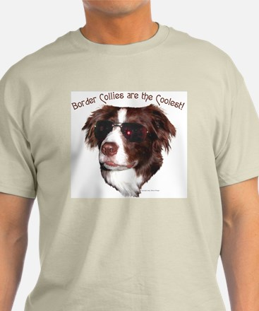 """Border Collie Cool"" Ash Grey T-Shirt"