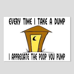 Pump Poop Postcards (Package of 8)