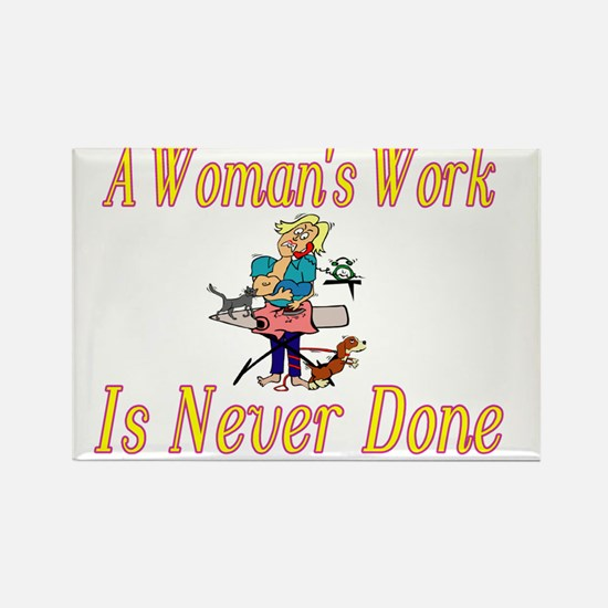 Womans Work Rectangle Magnet