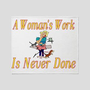 Womans Work Throw Blanket