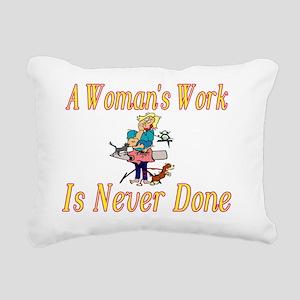 Womans Work Rectangular Canvas Pillow