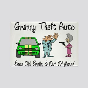 Granny Theft Auto Rectangle Magnet