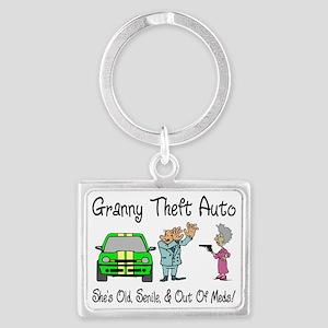 Granny Theft Auto Landscape Keychain