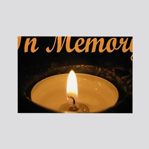 In Memory Banner Wide Rectangle Magnet