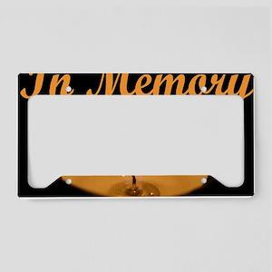 In Memory Banner Wide License Plate Holder