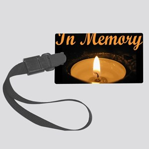 In Memory Banner Tall Large Luggage Tag