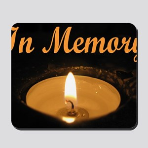 In Memory Banner Tall Mousepad