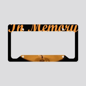 In Memory Banner Tall License Plate Holder