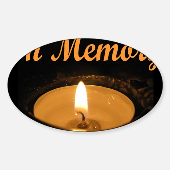 In Memory Banner Tall Sticker (Oval)
